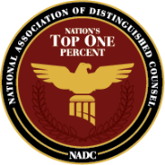National Association of Distinguished Counsel Top One Percent logo