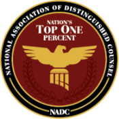 National Association of Distinguished Counsel - Top One Percent